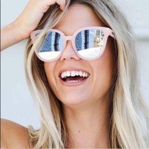 Quay Australia Paradiso Pink Mirrored Sunglasses